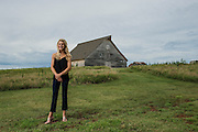 McGranahan Barn in Piedmont has been rebuilt by the family into a wedding and meeting venue. Maree Treece is the daughter and runs the facility.