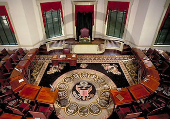 Senate Chamber, Congress Hall, Independence Hall, Independence National Historic Park, Philadelphia, PA