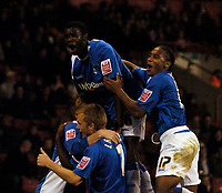 Photo: Jed Wee.<br /> Sheffield United v Birmingham City. Carling Cup. 24/10/2006.<br /> <br /> Birmingham celebrate their second goal.