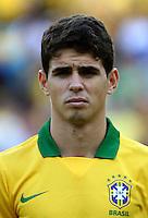 "Football Fifa Brazil 2014 World Cup Matchs-Friendly / <br /> Brazil vs England 2-2  ( Jornalista Mario Filho - Maracana Stadium-Rio de Janeiro, Brazil )<br /> "" OSCAR "" Dos Santos Emboaba Junior  of Brazil , Prior the Friendly match between Brazil and England"