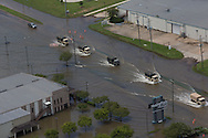 Louisiana National Guard move through highwater in Baton Rouge while on rescue missions following record breaking flooding.