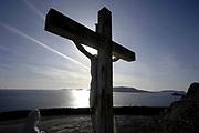 The Cross near Coomeenole Beach on Slea Head on the Dingle Penninsula, County Kerry, Ireland.<br /> Photo: Don MacMonagle -macmonagle.com