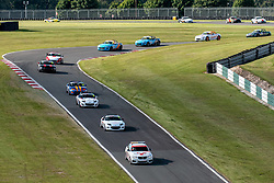 Safety Car pictured while competing in the BRSCC Mazda MX-5 SuperCup Championship. Picture taken at Cadwell Park on August 1 & 2, 2020 by BRSCC photographer Jonathan Elsey