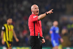 Referee Roger East during the Premier League match at the Cardiff City Stadium.