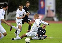 Fotball<br /> 12.07.2012<br /> Qualification Europa League Q1<br /> Kvalifisering til Europa League Q1<br /> Stabæk v JJK Jyvaskyla 3:2 (3:4 agg)<br /> Foto: Morten Olsen, Digitalsport<br /> <br /> Juha Pasoja (5) - JJK<br /> Mikki Reintam (3) - JJK<br /> Bjarte Haugsdal - Stabæk