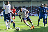 Xavier Amaechi of England (11) skips past a defender during the UEFA European Under 17 Championship 2018 match between England and Italy at the Banks's Stadium, Walsall, England on 7 May 2018. Picture by Mick Haynes.