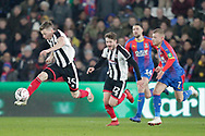 Grimsby Town midfielder Harry Clifton (15) attacks with the ball during the The FA Cup 3rd round match between Crystal Palace and Grimsby Town FC at Selhurst Park, London, England on 5 January 2019.