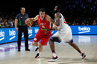 United States´s Harden (R) and Serbia´s Kalinic during FIBA Basketball World Cup Spain 2014 final match between United States and Serbia at `Palacio de los deportes´ stadium in Madrid, Spain. September 14, 2014. (ALTERPHOTOSVictor Blanco)