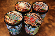 Various flavours of Ben & Jerry's Ice Cream