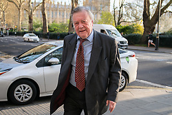 © Licensed to London News Pictures. 04/04/2019. London, UK. Kenneth Clarke MP arriving to appear on a radio interview. MPs voted last night by a majority of one to extend article 50. The bill will be passed to the House of Lords today. Photo credit : Tom Nicholson/LNP