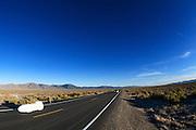 Sean Costin rijdt in de Swift op de vierde racedag van de WHPSC. In de buurt van Battle Mountain, Nevada, strijden van 10 tot en met 15 september 2012 verschillende teams om het wereldrecord fietsen tijdens de World Human Powered Speed Challenge. Het huidige record is 133 km/h.<br /> <br /> Sean Costing pedaling in the Swift on the fourth day of the WHPSC. Near Battle Mountain, Nevada, several teams are trying to set a new world record cycling at the World Human Powered Vehicle Speed Challenge from Sept. 10th till Sept. 15th. The current record is 133 km/h.