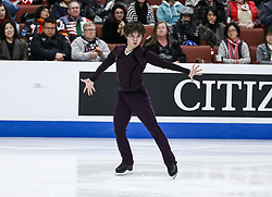 February 7, 2019 - Los Angeles, California, U.S - Shoma Uno of Japan competes in the Men Short Program during the ISU Four Continents Figure Skating Championship at the Honda Center in Anaheim, California on February 7, 2019. (Credit Image: © Ringo Chiu/ZUMA Wire)