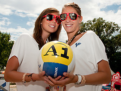 A1 girls at A1 Beach Volleyball Grand Slam tournament of Swatch FIVB World Tour 2010, on July 27, 2010 in Klagenfurt, Austria. (Photo by Matic Klansek Velej / Sportida)