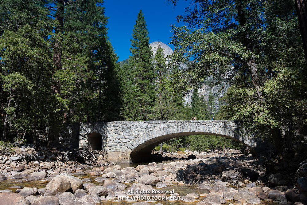 Yosemite valley creek bridge, Yosemite national park, California, USA
