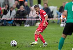Tobias Christiansen (FC Helsingør) under kampen i Sydbank Pokalen, 1. runde, mellem Bispebjerg Boldklub og FC Helsingør den 2. september 2020 i Lersø Parken (Foto: Claus Birch).