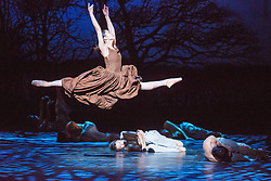 © Licensed to London News Pictures. 14/08/2013. Shanghai Ballet Company make their highly anticipated UK debut with performances of Jane Eyre, an original, innovative ballet production choreographed by Patrick de Bana. Picture shows: Xiang Jieyan (Jane). Photo credit: Tony Nandi/LNP