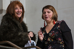 London, UK. 16 November, 2019. Karie Murphy (l), who is overseeing the Labour Party's general election campaign, arrives at the Clause V meeting. Credit: Mark Kerrison/Alamy Live News