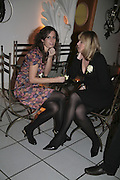 Lois Tucker and Lyndsey Fair, Colman Getty's 20th Birthday party. The Imagination Gallery. Store St. London W1. 17 January 2006.  -DO NOT ARCHIVE-© Copyright Photograph by Dafydd Jones. 248 Clapham Rd. London SW9 0PZ. Tel 0207 820 0771. www.dafjones.com.