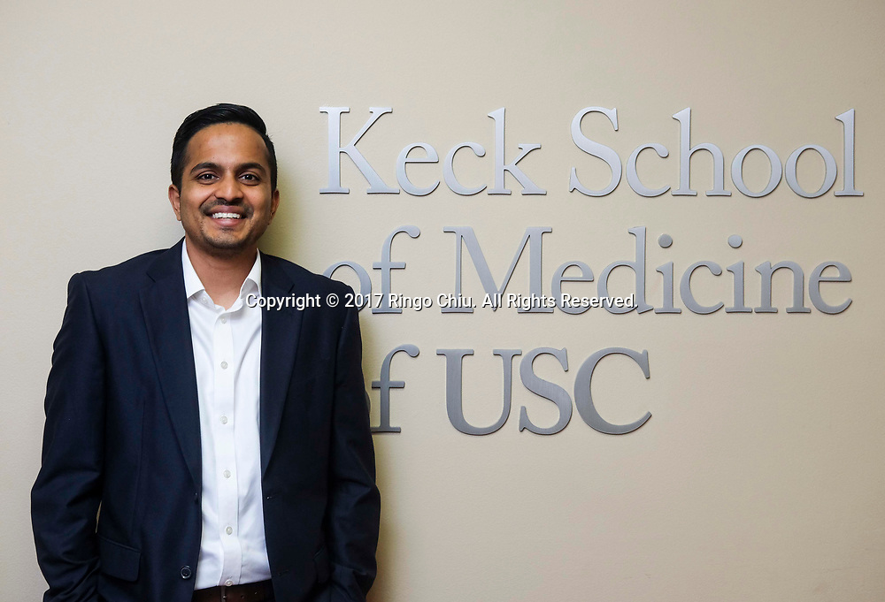Karthik Murali, director of Digital Health Lab and USC D-Health program at Keck School of Medicine of USC. (Photo by Ringo Chiu)<br /> <br /> Usage Notes: This content is intended for editorial use only. For other uses, additional clearances may be required.
