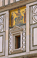 Facade of San Miniato Church - Florence Italy. .<br /> <br /> Visit our ITALY PHOTO COLLECTION for more   photos of Italy to download or buy as prints https://funkystock.photoshelter.com/gallery-collection/2b-Pictures-Images-of-Italy-Photos-of-Italian-Historic-Landmark-Sites/C0000qxA2zGFjd_k<br /> .<br /> <br /> Visit our MEDIEVAL PHOTO COLLECTIONS for more   photos  to download or buy as prints https://funkystock.photoshelter.com/gallery-collection/Medieval-Middle-Ages-Historic-Places-Arcaeological-Sites-Pictures-Images-of/C0000B5ZA54_WD0s