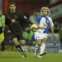 Photo: Aidan Ellis.<br /> Blackburn Rovers v Tottenham Hotspur. The Barclays Premiership. 19/11/2006.<br /> Spurs Hossam Ghaly (L) and Blackburn's Michael Gray