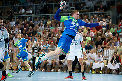 Matej Gaber of Slovenia during handball game between Man National Teams of Slovenia and Hungary in 2019 Man's World Championship Qualification, on June 9, 2018 in Arena Bonifika, Ljubljana, Slovenia. Photo by Urban Urbanc / Sportida