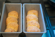 Home made Ketogenic (Low carb) cheese scones based on almond flour, yellow cheese, egg  and butter
