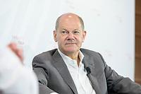 """08 JUN 2021, BERLIN/GERMANY:<br /> Olaf Scholz, SPD, Bundesfinanzminister, Wirtschaftskonferenz, Wirtschaftsforum der SPD """"Post-Coronomics - Transformation, Wachstum, Beschäftigung"""", Axica Kongresszentrum<br /> IMAGE: 20210608-01-038"""