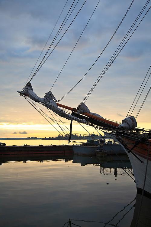 Old sail ships at Baltic Herring Fair in Helsinki, Finland.