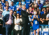 Football - 2017 / 2018 Premier League - Chelsea vs. Liverpool<br /> <br /> Boxing's ring announcer Michael Buffer introduces the teams ahead of the match at Stamford Bridge <br /> <br /> COLORSPORT/DANIEL BEARHAM