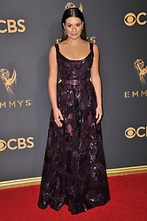 Lea Michele at the 69th Annual Emmy Awards held at the Microsoft Theater on September 17, 2017 in Los Angeles, CA, USA (Photo by Sthanlee B. Mirador/Sipa USA)
