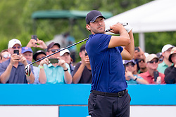 May 9, 2019 - Dallas, TX, U.S. - DALLAS, TX - MAY 09: Tony Romo hits his opening tee shot on #1 during the first round of the AT&T Byron Nelson on May 9, 2019 at Trinity Forest Golf Club in Dallas, TX. (Photo by Andrew Dieb/Icon Sportswire) (Credit Image: © Andrew Dieb/Icon SMI via ZUMA Press)