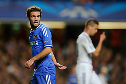 Chelsea Forward Juan Mata (ESP) looks on during the second half of the match - Photo mandatory by-line: Rogan Thomson/JMP - Tel: 07966 386802 - 18/09/2013 - SPORT - FOOTBALL - Stamford Bridge, London - Chelsea v FC Basel - UEFA Champions League Group E