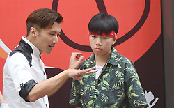 August 14, 2017 - Shanghai, Shanghai, China - Shanghai, CHINA-August 13 2017:(EDITORIAL USE ONLY. CHINA OUT) ..Chinese actor Nicholas Tse attends a cooking television show in Shanghai, August 13th, 2017. (Credit Image: © SIPA Asia via ZUMA Wire)