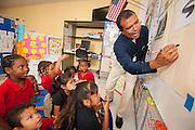 Gary Matthews teaches his Pre-K class at Cook Elementary School, May 9, 2013.