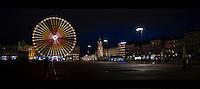 Lyon Place Bellecour de nuit.<br /> Janvier 2014