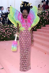 """Lupita Nyong'o at the 2019 Costume Institute Benefit Gala celebrating the opening of """"Camp: Notes on Fashion"""".<br />(The Metropolitan Museum of Art, NYC)"""