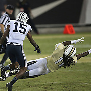 ORLANDO, FL - OCTOBER 09: Breshad Perriman #11 of the UCF Knights makes a diving attempt at a reception at Bright House Networks Stadium on October 9, 2014 in Orlando, Florida. (Photo by Alex Menendez/Getty Images) *** Local Caption *** Breshad Perriman