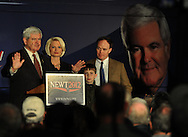 February 17, 2012 PEACHTREE CITY:  Newt Gingrich's rally at Peachtree City-Falcon Field in Peachtree City on  Friday, February 17, 2012.  He is running for the president of the United States.    ©2012 Johnny Crawford