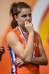 01-10-2017 AZE: Final CEV European Volleyball Nederland - Servie, Baku<br /> Nederland verliest opnieuw de finale op een EK. Servië was met 3-1 te sterk / Yvon Belien #3 of Netherlands