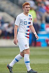 May 28, 2018 - Chester, PA, U.S. - CHESTER, PA - MAY 28: United States forward Josh Sargent (13) looks on during the international friendly match between the United States and Bolivia at the Talen Energy Stadium on May 28, 2018 in Chester, Pennsylvania. (Photo by Robin Alam/Icon Sportswire) (Credit Image: © Robin Alam/Icon SMI via ZUMA Press)