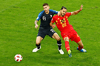 SAINT PETERSBURG, RUSSIA - JULY 10: Lucas Hernandez (L) of France national team and Nacer Chadli of Belgium national team vie for the ball during the 2018 FIFA World Cup Russia Semi Final match between France and Belgium at Saint Petersburg Stadium on July 10, 2018 in Saint Petersburg, Russia. MB Media