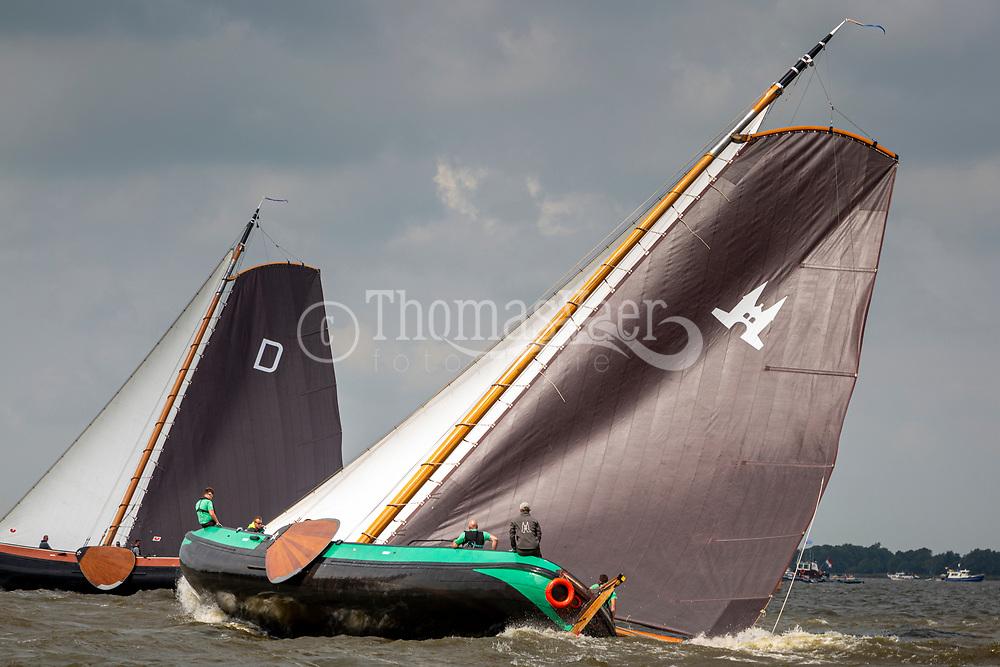 SKS Skutsjesilen 2019 op het Heegermeer bij Woudsend