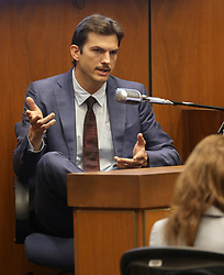 May 29, 2019, Los Angeles, California , U.S.: ASHTON KUTCHER testifies in the murder trial of alleged serial killer Michael Gargiulo at Los Angeles Superior Court. (Credit Image: © Frederick M. Brown/Pool/ZUMA Wire)