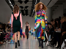 Models on the catwalk during the Fyodor Golan Autumn/Winter 2017 London Fashion Week show at BFC Show Space, London. PRESS ASSOCIATION. Picture date: Friday February 17, 2017. Photo credit should read: Isabel Infantes/PA Wire