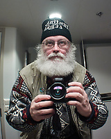 Mirror selfie in my cabin on the Hurtigruten MS Nordkapp. Image taken with a Nikon 1 V2 camera and 10 mm lens.