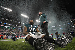 February 4, 2018 - Minneapolis, MN, USA - Members of the Philadelphia Eagles celebrate winning Super Bowl LII on Sunday, Feb. 4, 2018, in Minneapolis, Minn. (Credit Image: © Carlos Gonzalez/TNS via ZUMA Wire)