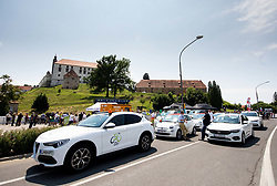 Cars during 1st Stage of 27th Tour of Slovenia 2021 cycling race between Ptuj and Rogaska Slatina (151,5 km), on June 9, 2021 in Slovenia. Photo by Vid Ponikvar / Sportida