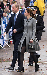 Prince William, Duke of Cambridge and Catherine, Duchess of Cambridge visit a site near Leicester's King Power Stadium to pay tribute to Vichai Srivaddhanaprabha,  the chairman of Leicester City Football Club,  and the others who were tragically killed in the helicopter crash while leaving the Stadium.<br />November 28, 2018