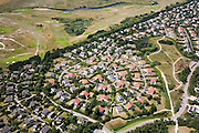 Nederland, Noord-Holland, Texel, 14-07-2008; De Krim, vakantiepark met bungalows, vakantiehuisjes, chalets; gelegen vlak bij de Slufter (Sluftervallei); .Vakantiehuizen, camping, vakantiecentrum. .luchtfoto (toeslag); aerial photo (additional fee required); .foto Siebe Swart / photo Siebe Swart